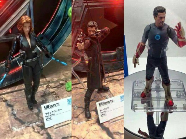 Tamashii Nation 2015 SH Figuarts Avengers Black Widow Hawkeye Tony Stark