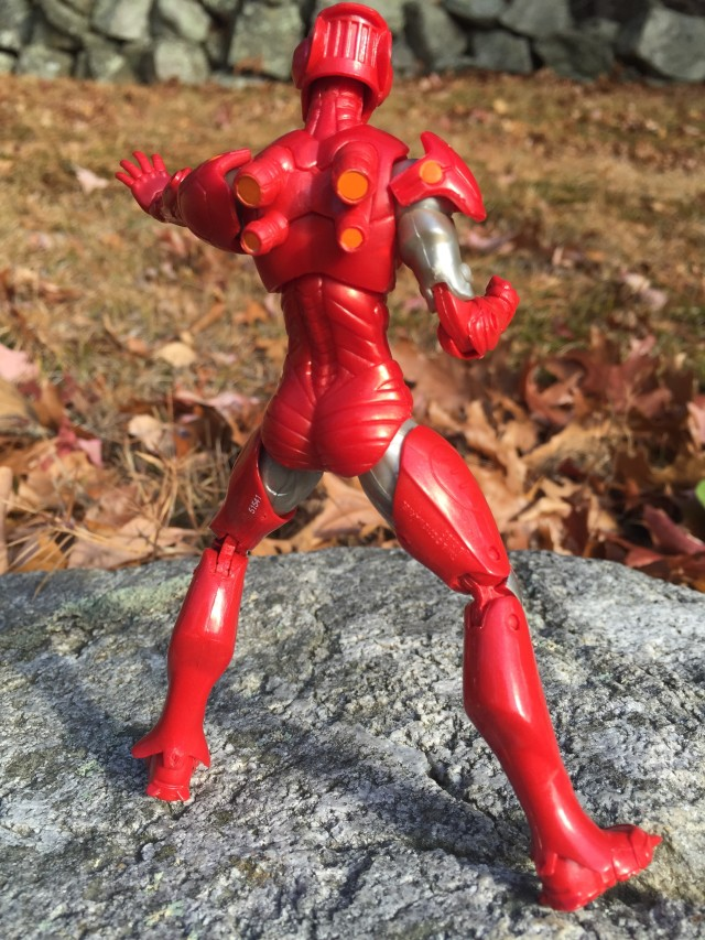 Back of Exclusive Marvel Legends Infinite Series Rescue Iron Man Figure