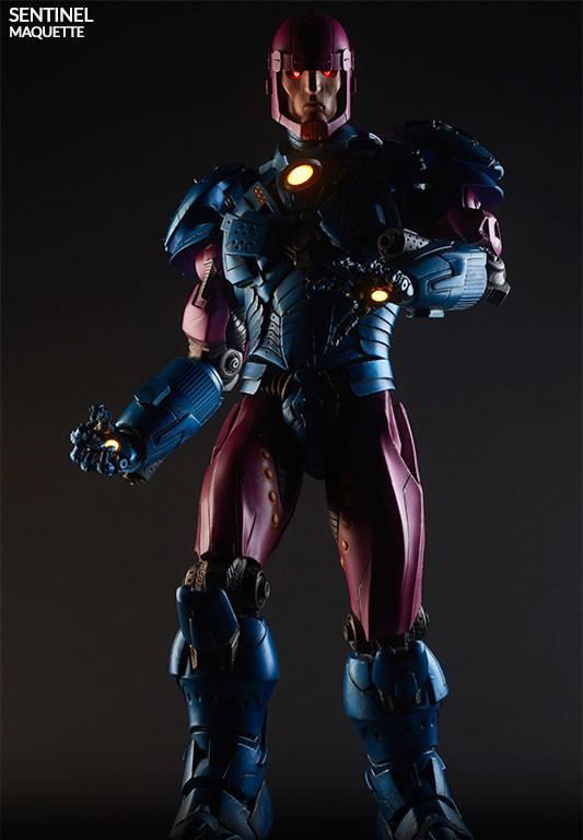 Sideshow Sentinel Maquette Light-Up Eyes Chest Palms