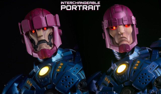 Sideshow Sentinel Statue Interchangeable Heads Lit Up LED Lights