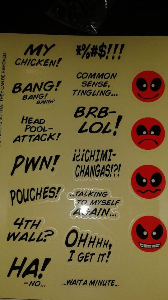 Stickers for Deadpool Thought Balloons Sideshow Sixth Scale