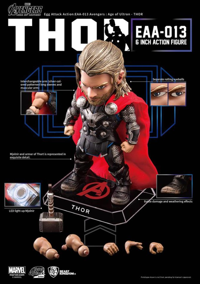 Thor Egg Attack Figure and Accessories