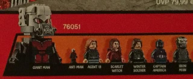 76051 LEGO Minifigures Giant Man Ant-Man Agent 13 Captain America Civil War
