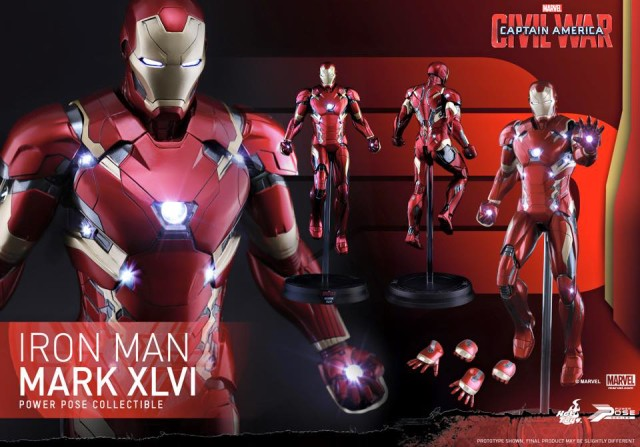 Captain America Civil War Hot Toys Iron Man Mark XLVI Figure and Accessories