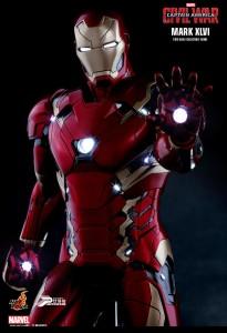 Civil War Hot Toys Iron Man Mark XLVI Figure