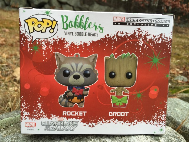 Guardians of the Galaxy POP Bobblers Ornaments Box Back