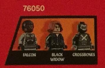 LEGO 76050 Minifigures Civil War Falcon Crossbones Black Widow