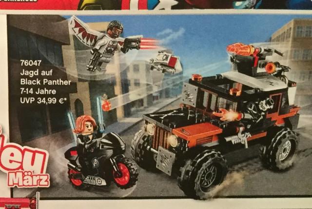 LEGO Marvel Black Panther Pursuit 76047 Set
