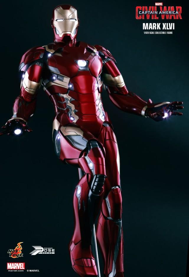 Mark XLVI Iron Man Hot Toys Power Pose Series Figure