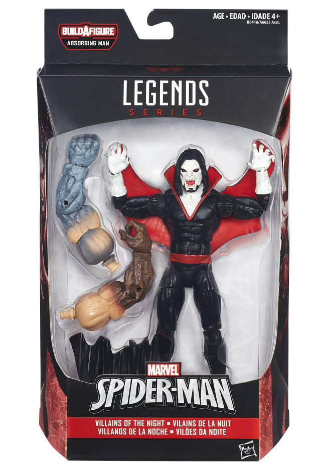 Marvel Legends Villains of the Night Morbius Figure Packaged