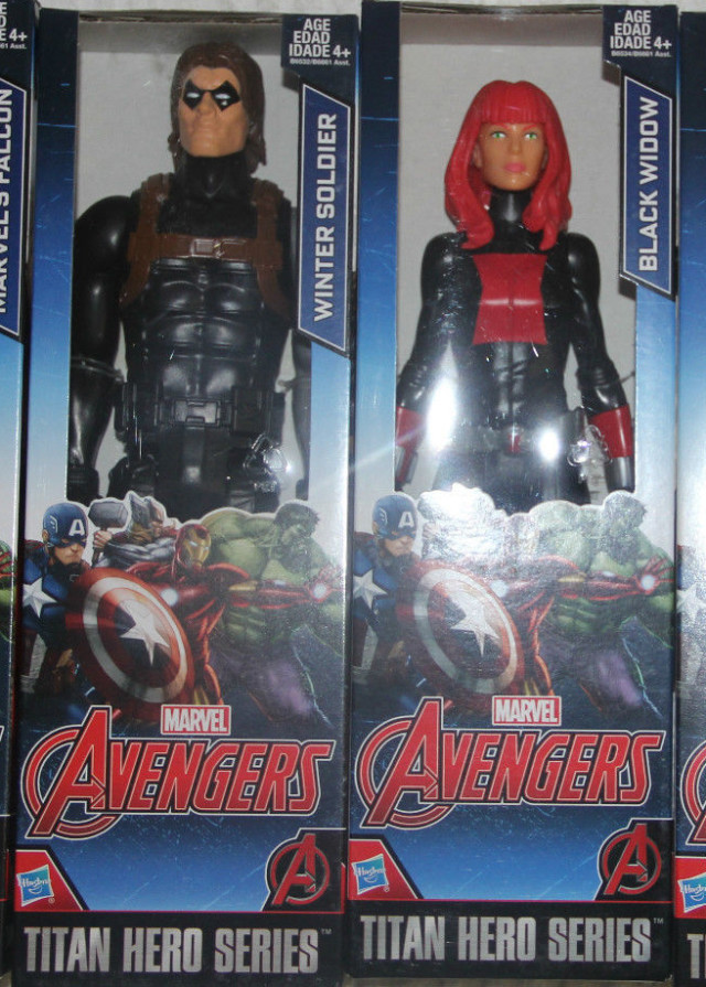 Marvel Titan Hero Series 2016 Figures Black Widow Winter Soldier