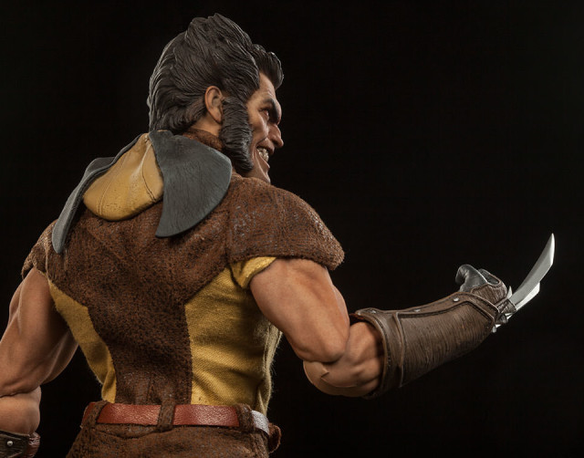 Sideshow Brown Costume Wolverine 12 Inch Figure with Mask Off