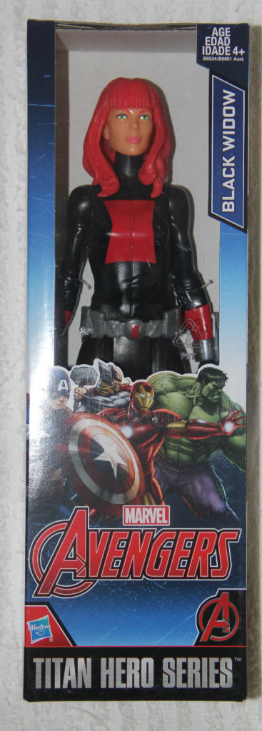 Titan Hero Black Widow Figure Packaged