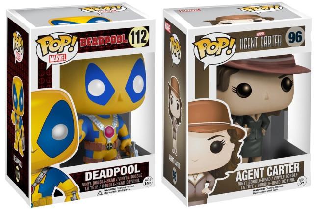 Funko Marvel POP Vinyls Amazon Exclusives Deadpool Agent Carter