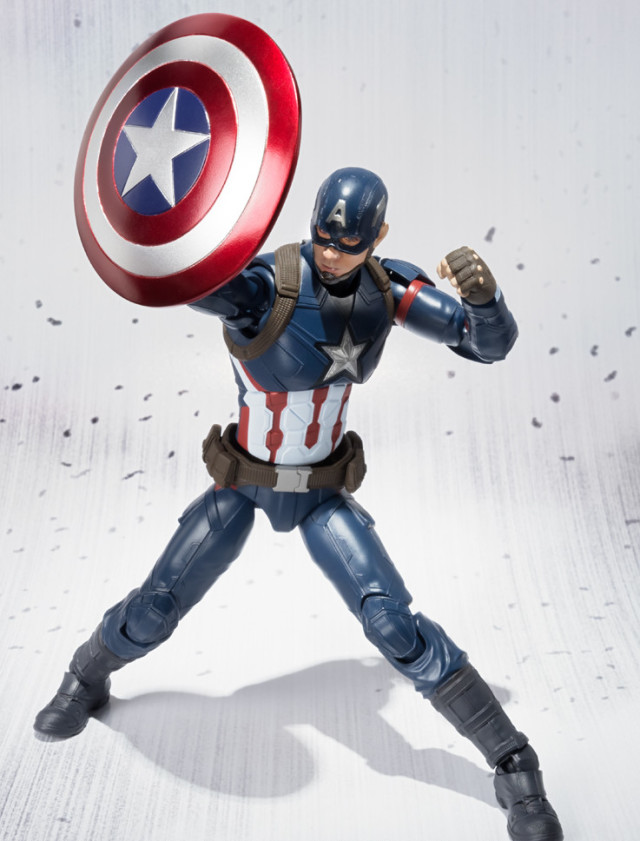 Captain America Civil War Figuarts Figure Holding Up Shield