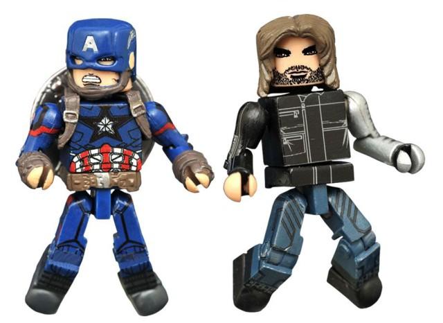 Captain America Civil War Marvel Minimates Winter Soldier and Captain America Figures
