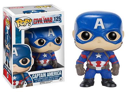 Funko POP Vinyls Civil War Captain America Figure