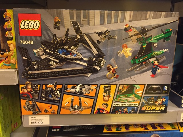 LEGO Batman vs. Superman Heroes of Justice Sky High Battle Box Back