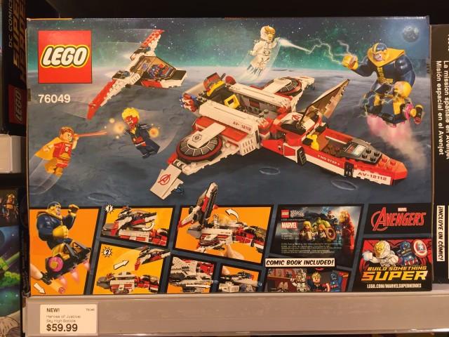 LEGO Avengers Jet Space Mission Box Back Thanos