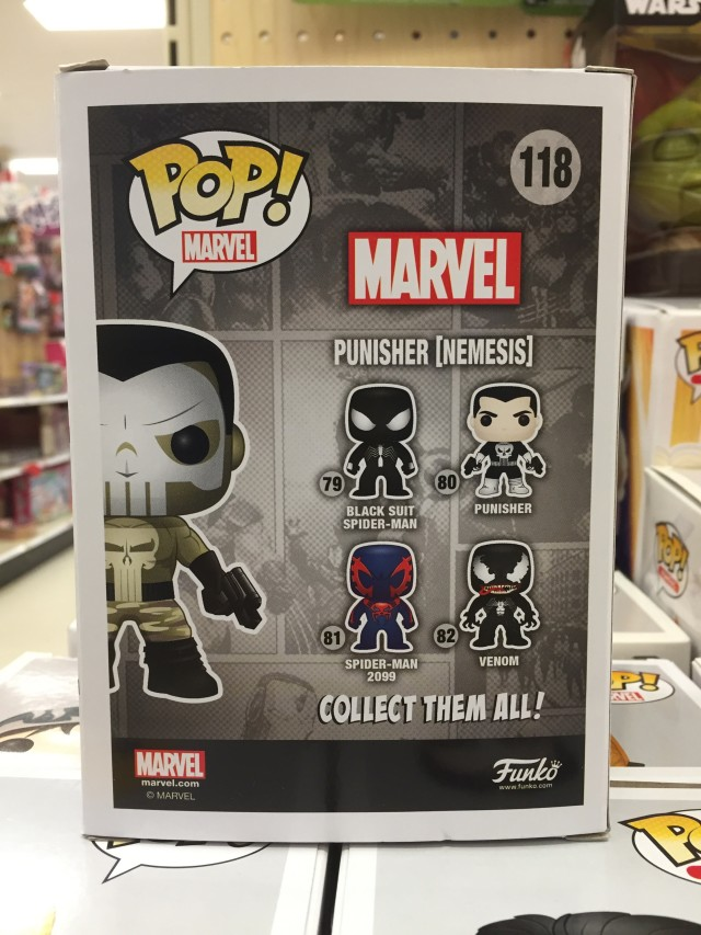 Target Nemesis Punisher POP Vinyl Box Back