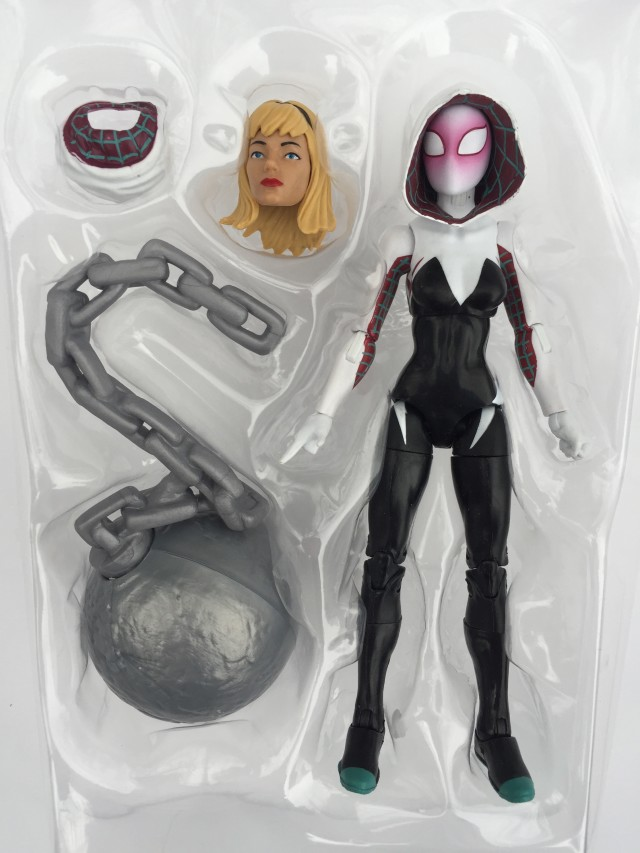 Spider-Man Legends Edge of Spider-Verse Spider-Gwen Figure in Packaging