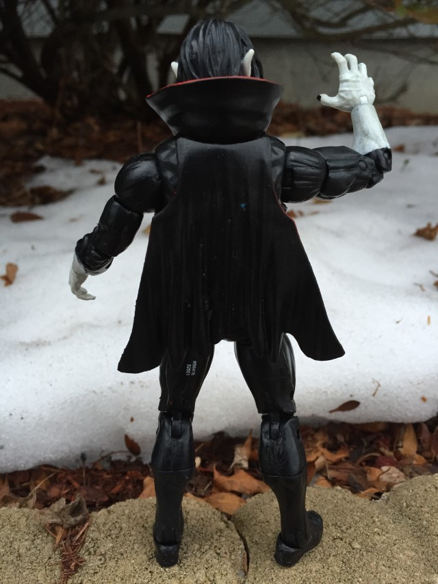 Back of Marvel Legends Morbius Action Figure