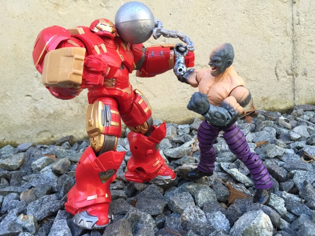 Marvel Legends Absorbing Man vs. Hulkbuster Iron Man Size Comparison
