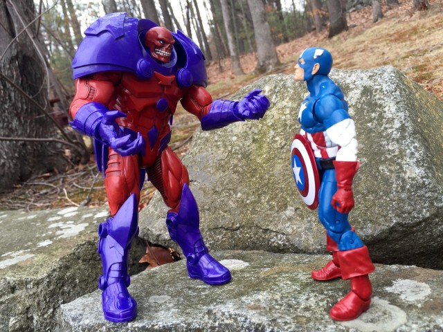 Scale Comparison Marvel Legends Red Onslaught vs. Captain America