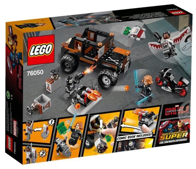 LEGO 76050 Crossbones Hazard Heist Civil War Set Box Back