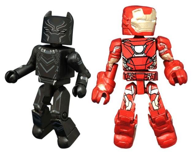 Marvel Minimates Captain America Civil War Black Panther and Iron Man Figures
