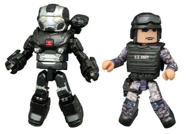 Marvel Minimates War Machine Mark III and Navy Seal Figure