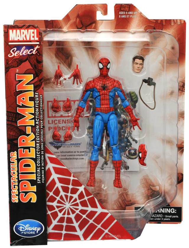 Marvel Select Spectacular Spider-Man Figure Packaged