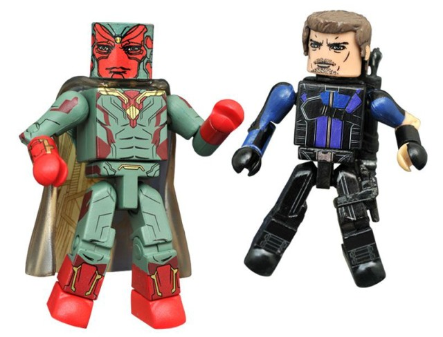 Minimates Civil War Vision and Hawkeye Toys R Us Exclusive Figures