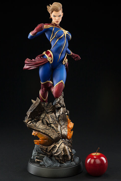 Premium Format Captain Marvel Statue Size Scale Photo