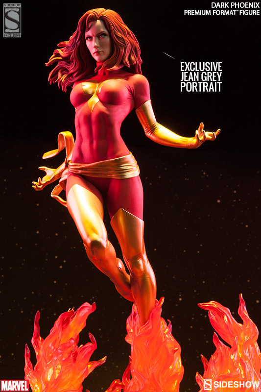 Premium Format Dark Phoenix Exclusive Jean Grey Head Sideshow