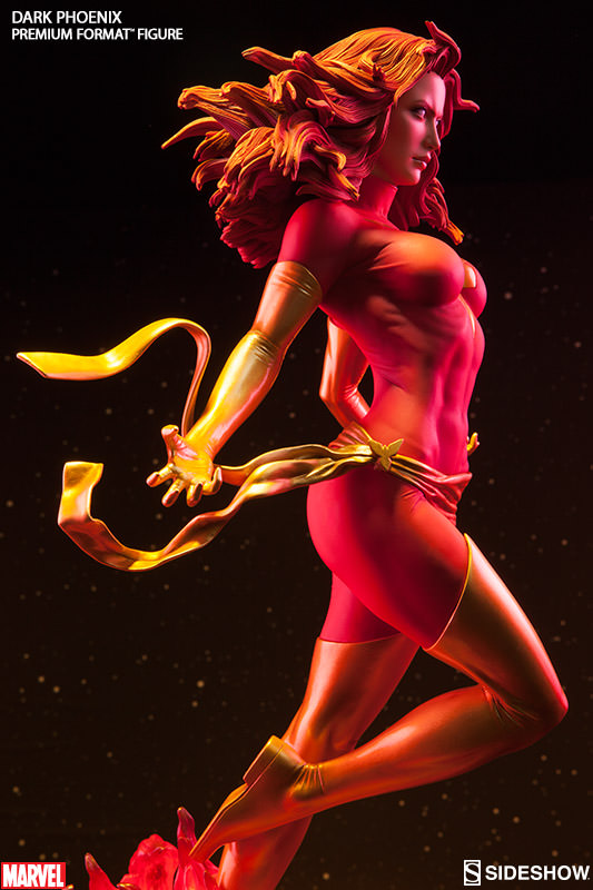 Side View of Dark Phoenix Sideshow Premium Format Statue