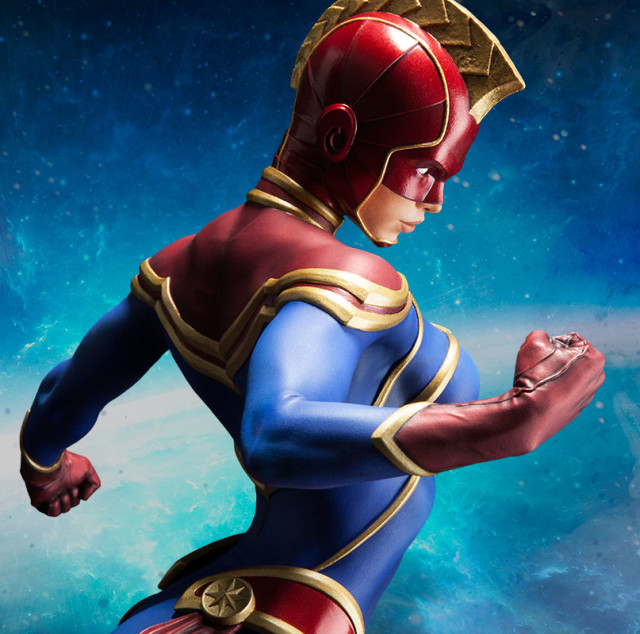 Side View of Sideshow Collectibles Exclusive Captain Marvel Helmet Head