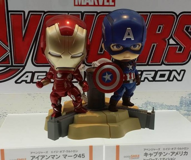 Avengers Age of Ultron Iron Man Nendoroid with Captain America