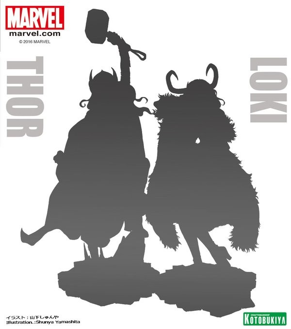 Bishoujo Loki and Lady Thor Kotobukiya Statues Announced