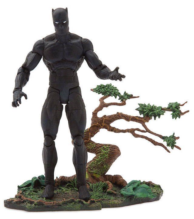 Black Panther Marvel Select Exclusive Figure with Jungle Base
