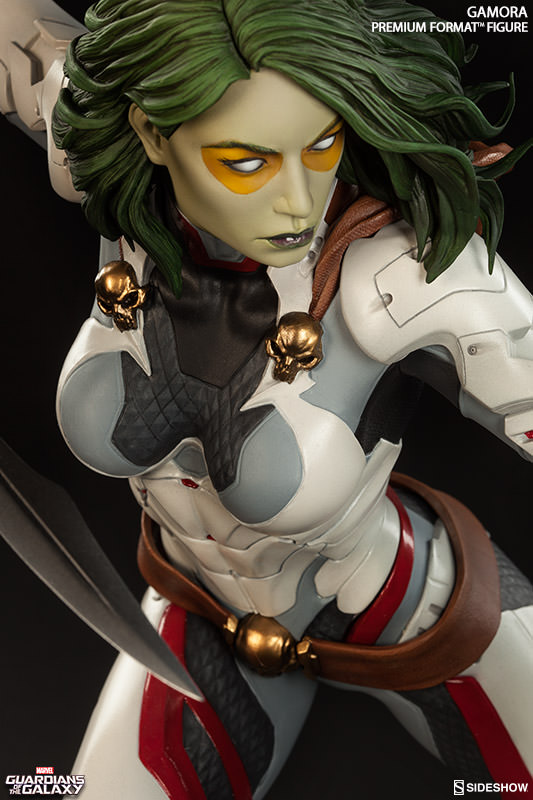 Close-Up of Gamora Sideshow Premium Format Figure