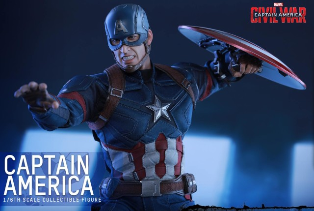 Hot Toys 2016 Captain America Movie Masterpiece Series Figure Angry Head