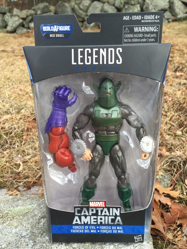 Whirlwind Marvel Legends Red Onslaught Series Figure Packaged