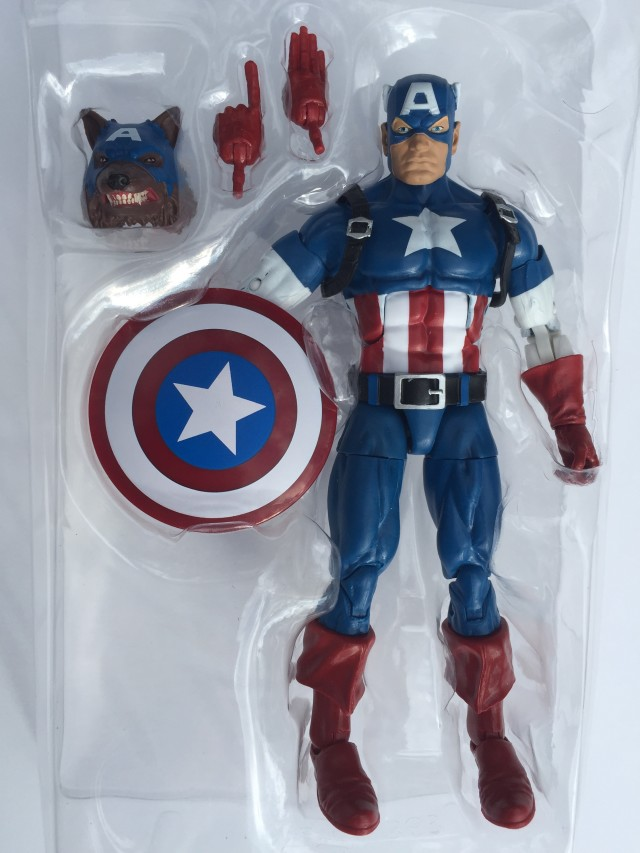 Hasbro Marvel Legends Captain America Figure with Wolf Head and Accessories