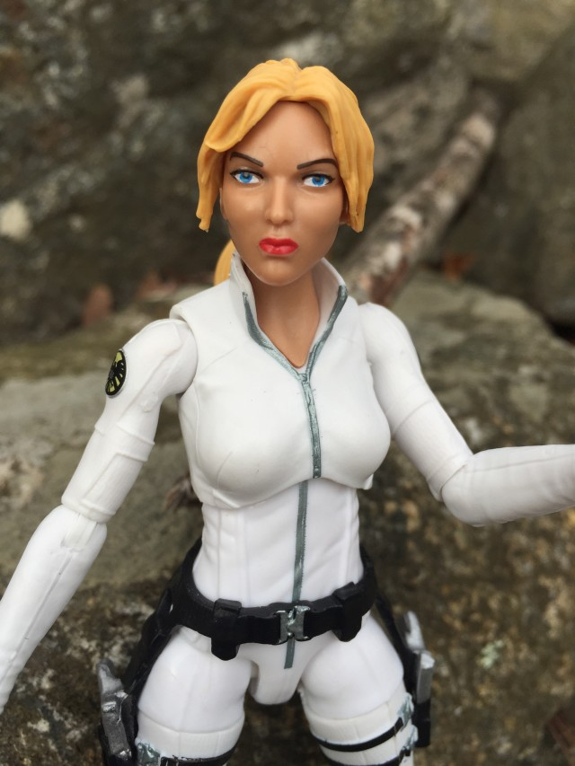 Close-Up of Captain America Legends Agent 13 Sharon Carter Figure Head