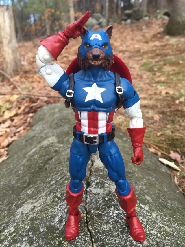 Captain America Legends Wolf Cap Figure Saluting