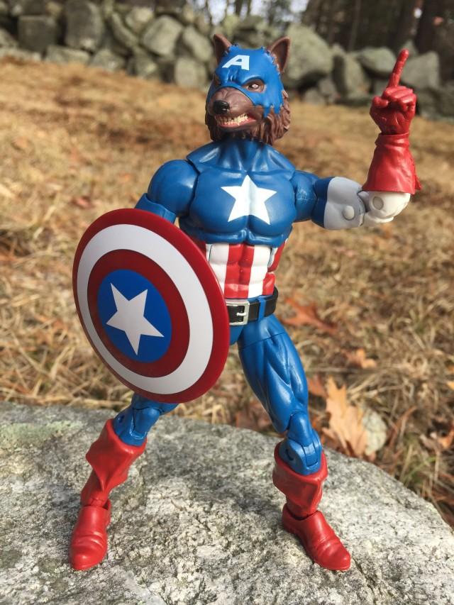 "Werewolf Captain America Hasbro Marvel Legends 6"" Action Figure"