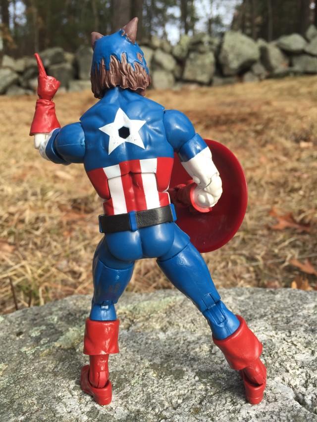 Back of Marvel Legends Werewolf Captain America Figure