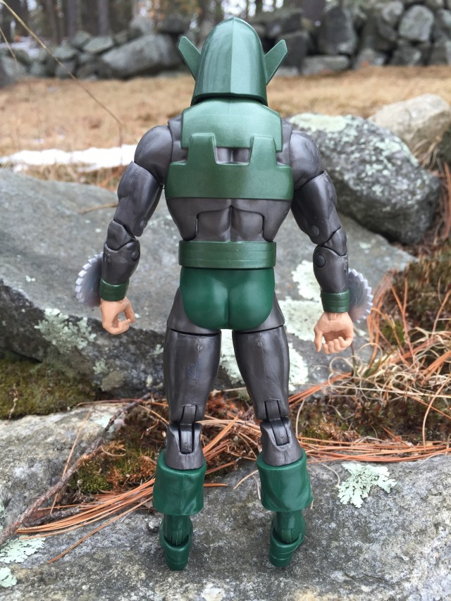 Back of Marvel Legends Whirlwind Action Figure