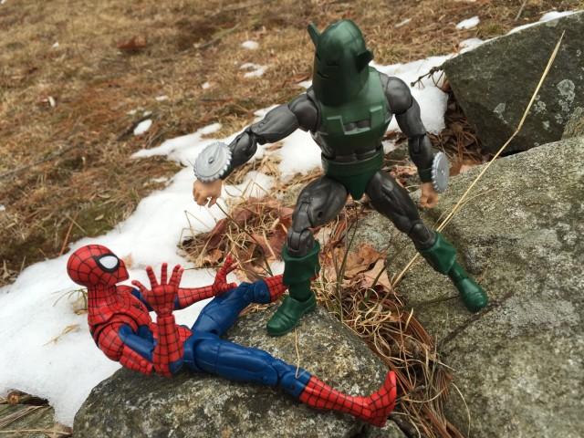 2016 Marvel Legends Whirlwind Figure vs. Spider-Man